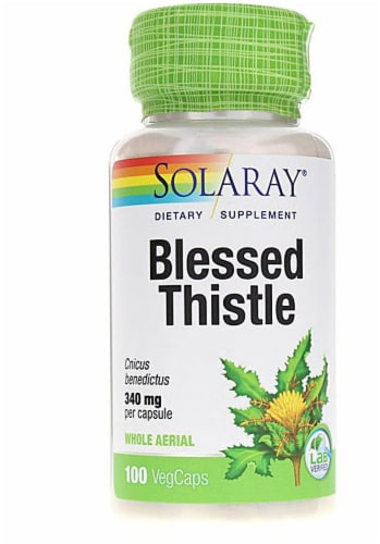Solaray Blessed Thistle Capsules 340mg Perspective: front