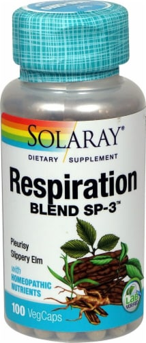 Solaray Respiration Blend SP-3™ Capsules Perspective: front