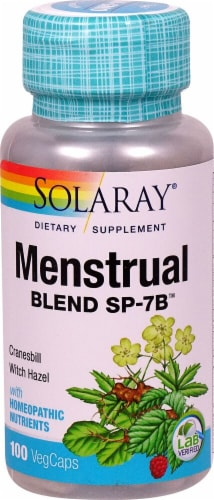 Solaray Menstrual Blend™ SP-7B™ Vegetarian Capsules Perspective: front