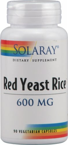 Solaray Red Yeast Rice Capsules 600mg Perspective: front