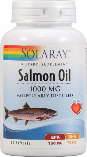 Solaray  Salmon Oil Perspective: front