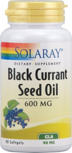 Solaray Black Currant Seed Oil Softgels 600mg Perspective: front