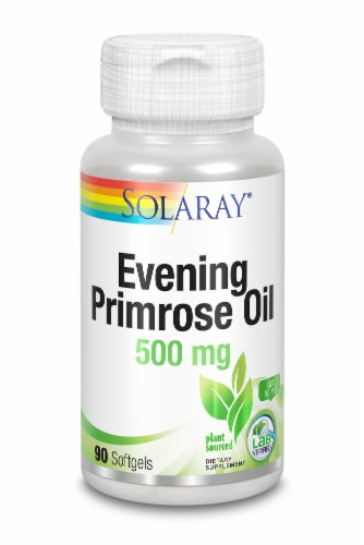 Solaray High Potency Evening Primrose Oil Softgels 500mg Perspective: front