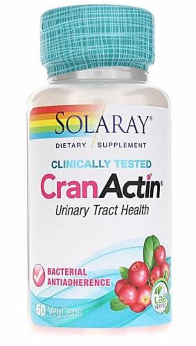 Solaray CranActin® Vegetarian Capsules Perspective: front