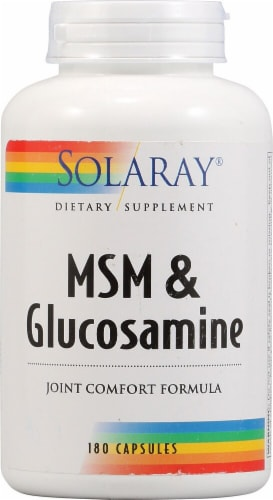 Solaray  MSM and Glucosamine Perspective: front