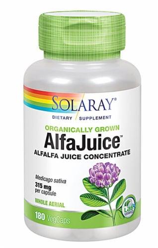 Solaray Alfajuice™ Vegetarian Capsules 315mg Perspective: front