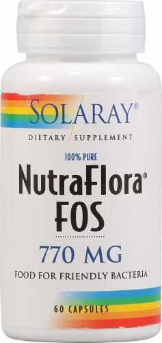 Solaray NutraFlora® FOS Capsules 770mg Perspective: front
