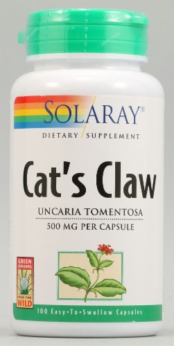 Solaray Cat's Claw Capsules 500mg Perspective: front