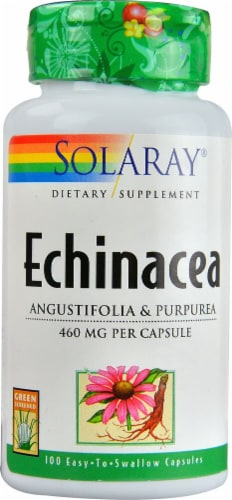 Solaray Echinacea Capsules 460mg Perspective: front