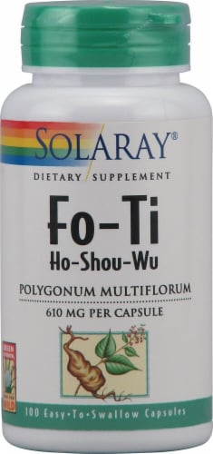 Solaray Fo-Ti Ho-Shou-Wu Capsules Perspective: front