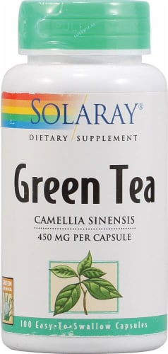 Solaray Green Tea Capsules Perspective: front