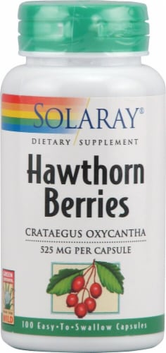 Solaray Hawthorn Berries Capsules 525mg Perspective: front