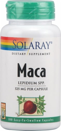 Solaray Maca Capsules 525mg Perspective: front