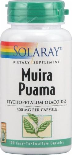 Solaray Muira Puama Capsules 300mg Perspective: front