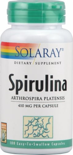 Solaray Spirulina Capsules Perspective: front