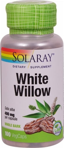 Solaray White Willow Bark Vegetarian Capsules 400mg Perspective: front