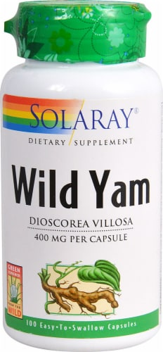 Solaray Wild Yam Root Capsules Perspective: front