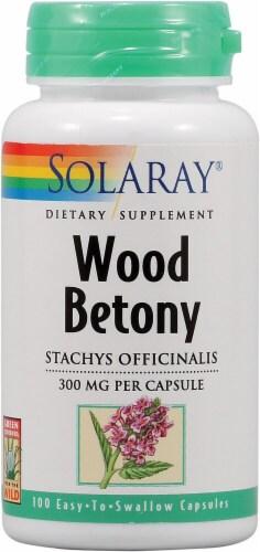 Solaray Wood Betony Capsules Perspective: front