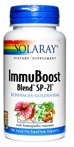 Solaray  Immuboost Blend™ SP-21™ Perspective: front