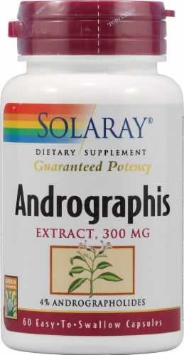 Solaray Andrographis Extract Capsules 300mg Perspective: front