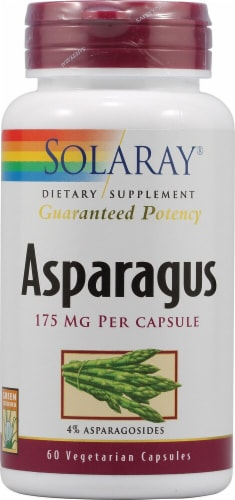 Solaray Asparagus Capsules 175mg Perspective: front