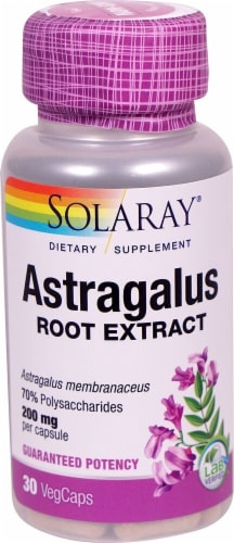 Solaray Astragalus Root Extract Vegetarian Capsules 200mg Perspective: front