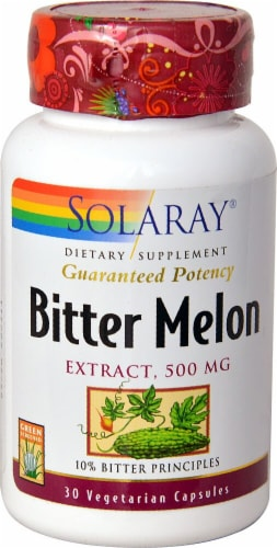 Solaray Bitter Melon Extract Capsules 500mg Perspective: front