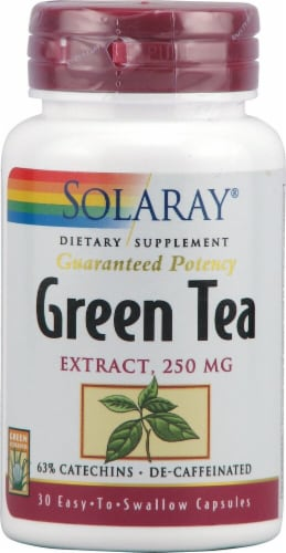 Solaray Green Tea Extract Capsules 250mg Perspective: front