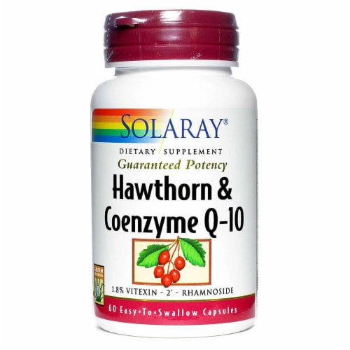 Solaray  Hawthorn and Coenzyme Q10 Two Daily Perspective: front