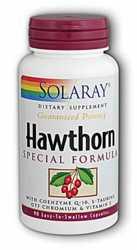 Solaray Hawthorn Special Formula Capsules Perspective: front