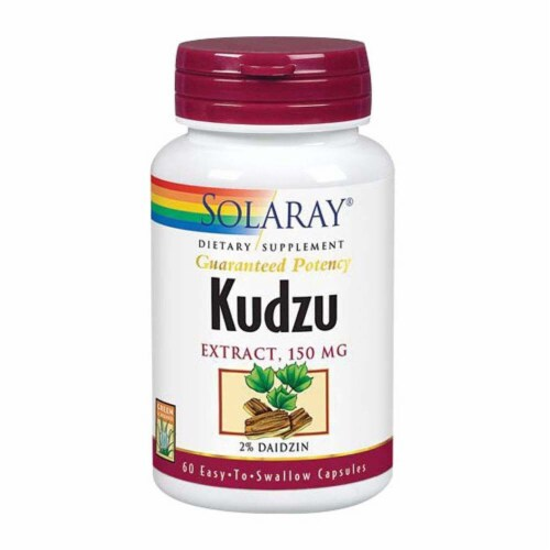 Solaray Kudzu Extract Easy to Swallow Capsules 150mg Perspective: front