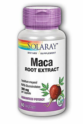 Solaray Maca Root Extract Vegetarian Capsules 300mg Perspective: front