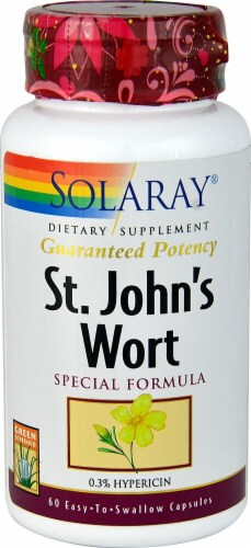 Solaray St. John's Wort Special Formula Capsules Perspective: front