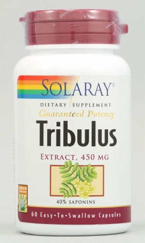 Solaray Tribulus Terrestris Extract Capsules 450 mg Perspective: front