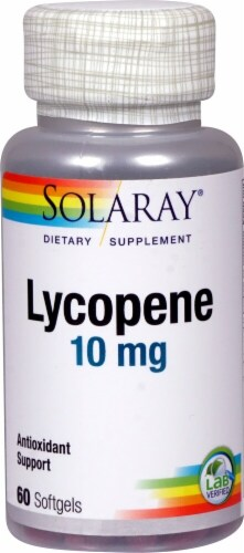 Solaray Lycopene Softgels 10 mg Perspective: front