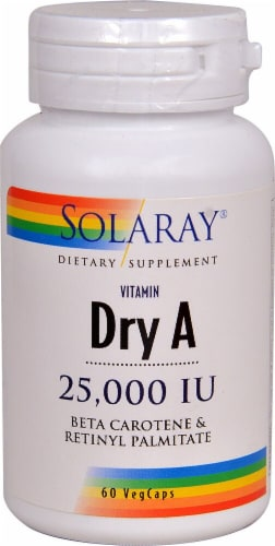 Solaray  Dry Vitamin A Perspective: front