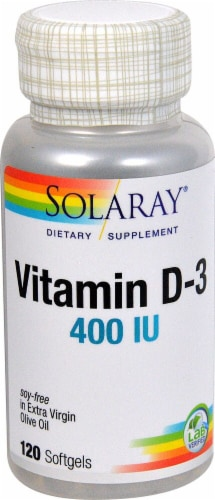 Solaray  Vitamin D-3 Perspective: front