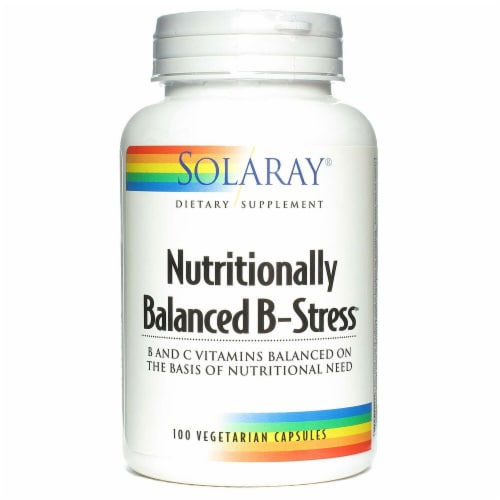 Solaray  Nutritionally Balanced B-Stress™ Perspective: front