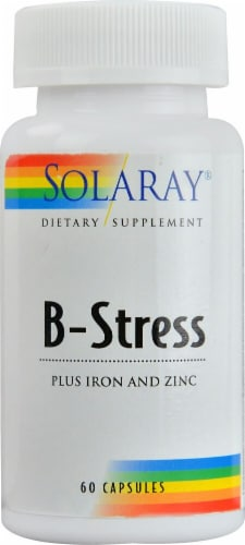 Solaray  B-Stress plus Iron and Zinc Perspective: front