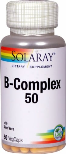 Solaray  B-Complex 50 Dietary Supplement Perspective: front
