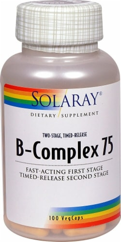 Solaray  B-Complex 75 Perspective: front
