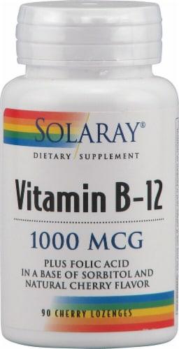 Solaray  Vitamin B-12   Cherry Perspective: front