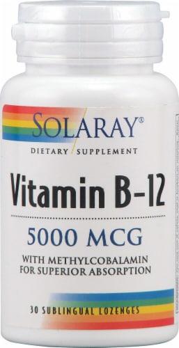 Solaray Vitamin B-12 Lozenges 5000mcg Perspective: front