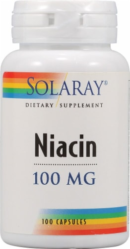 Solaray Niacin Capsules 100 mg Perspective: front