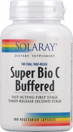 Solaray  Super Bio C Buffered Perspective: front