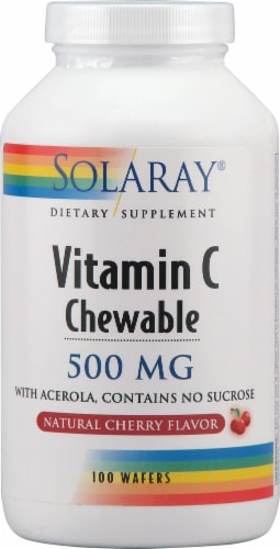 Solaray  Vitamin C Chewable   Natural Cherry Perspective: front
