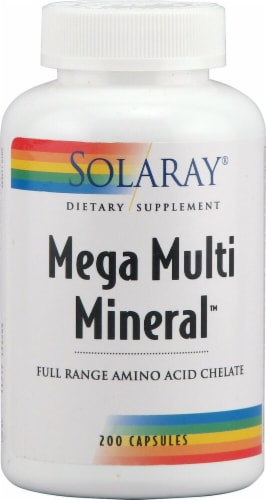Solaray  Mega Multi Mineral™ with Iron Perspective: front