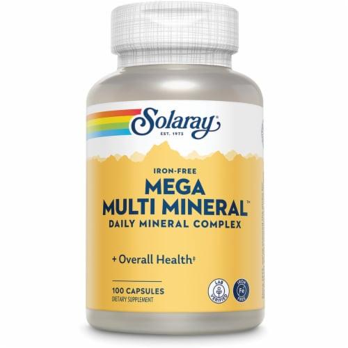Solaray  Mega Multi Mineral™ Iron Free Perspective: front