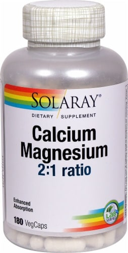 Solaray  Calcium and Magnesium Perspective: front