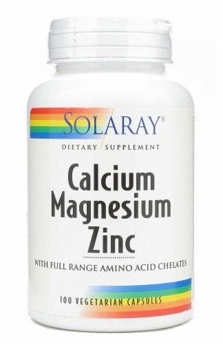 Solaray  Calcium Magnesium Zinc Perspective: front